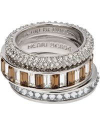 Henri Bendel The Henri Stack Ring Set - Lyst