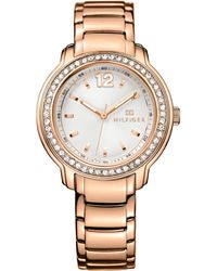 Tommy Hilfiger Women'S Rose Gold Ion-Plated Stainless Steel Bracelet Watch 36Mm 1781468 - Lyst