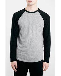 Topman Raglan Long Sleeve T-Shirt - Lyst