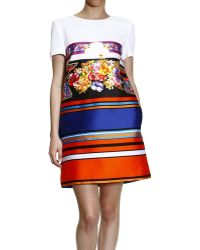 Alberta Ferretti Dress Short Sleeve Tunic Print - Lyst