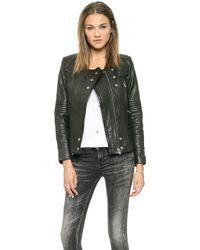 Iro Joss Leather Jacket  Black - Lyst