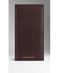Burberry Grainy Leather Card Case black - Lyst
