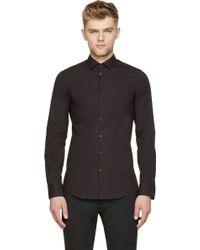 DSquared2 Black Chic Stretch Poplin Slim Shirt - Lyst