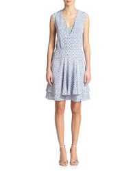 Rebecca Taylor Silk Printed Dress - Lyst