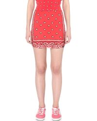 Illustrated People - Bandana Stretch-cotton Mini Skirt - Lyst