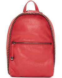 Stella McCartney Pink Fluorescent Fallabella Shaggy Deer Mini Backpack - Lyst