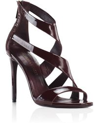 Tamara Mellon Tiger Patent Sandal - 105Mm purple - Lyst