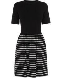 Oasis Stripe Skater Dress - Lyst
