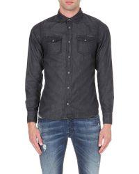 Diesel Blue Sonora Shirt - Lyst