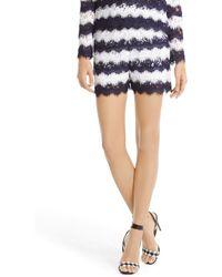 Diane von Furstenberg Dvf Darren Striped Lace Short - Lyst