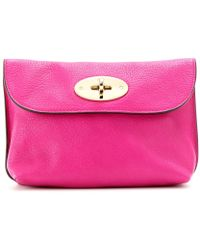 Mulberry Leather Beauty Case - Lyst