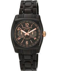 Vince Camuto - Men'S Black Tone Stainless Steel Bracelet 49X40Mm Vc-1018Bkbk - Lyst
