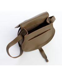 Chloé Anchor Grey Lambskin Leather Marcie Small Crossbody Bag - Lyst