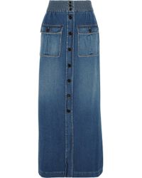 Chloé Denim Maxi Skirt - Lyst