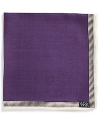 W.r.k. - Wool & Silk Pocket Square - Lyst
