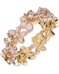Anne Klein - Flower Power Pink Bracelet - Lyst