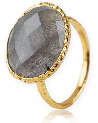 Argento Vivo - Stone Ring - Lyst