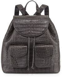 Nancy Gonzalez Crocodile Drawstring Backpack - Lyst
