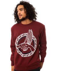 Crooks And Castles The Flying Gun Circle Crewneck Sweatshirt - Lyst