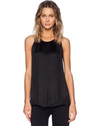 Theory Montien Silk Top - Lyst