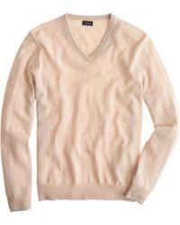 J.Crew Tall Italian Cashmere V-Neck Sweater - Lyst