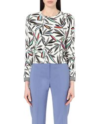 Paul Smith Black Label - Rowan Cotton Leaf Print Jumper - Lyst
