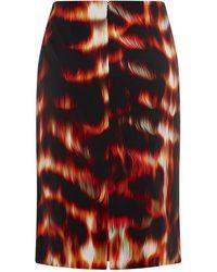 Roberto Cavalli Flame Print Skirt - Lyst