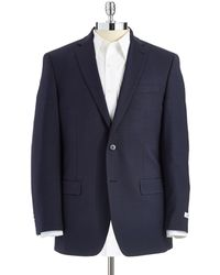 Calvin Klein Checked Slim Fit Suit Jacket - Lyst