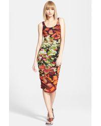 Jean Paul Gaultier Butterfly Print Ruched Tulle Tank Dress - Lyst