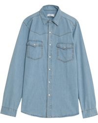 Ami Chambray Fit Shirt 4 - Lyst