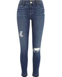 River Island Mid Wash Amelie Superskinny Reform Jeans - Lyst
