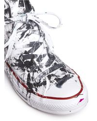Rialto Jean Project | One Of A Kind Hand-painted Splash High Top Sneakers - Sz 38 | Lyst