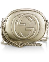 Gucci Soho Metallic Leather Mini Chain Bag - Lyst