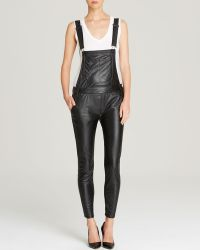 Black Orchid Overalls - Skinny Faux Leather - Lyst