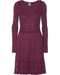 M Missoni Crochetknit Woolblend Dress - Lyst