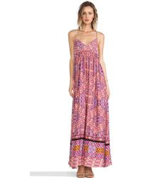 Mink Pink Water Color Tiles Maxi Dress - Lyst