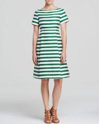 Kate Spade Striped Fit And Flare Dress - Lyst