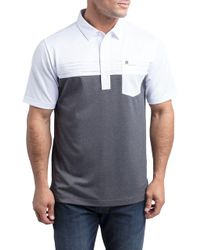 9ff9f0519 Lyst - Travis Mathew Premium Economy Golf Polo in Black for Men