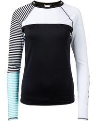 Roxy - Stripe Long Sleeve Rash Guard - Lyst