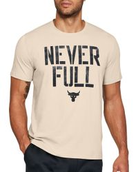 Under Armour - Project Rock Never Full Graphic T-shirt - Lyst