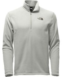 56eadee1f2 The North Face - Tka 100 Glacier Quarter Zip Pullover - Lyst