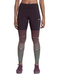 Nike   Power Epic Lux Flash Running Tights   Lyst