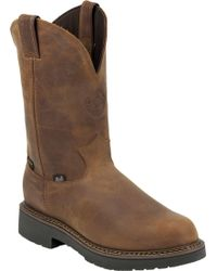Justin Boots - Justin Rugged Aged Bark Gaucho Waterproof Work Boots - Lyst
