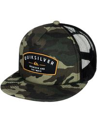 sports shoes 10dbf dbee9 inexpensive mens destril trucker hat 9efc7 5f6c2  italy quiksilver sass  master trucker hat lyst aae04 6a73d