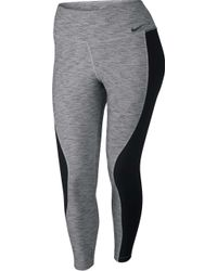 8644f29d9fc Lyst - Nike Legend Dri-fit Space-dyed Capri Leggings in Gray