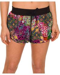 Betsey Johnson - Performance Stretch Woven Printed Running Shorts - Lyst