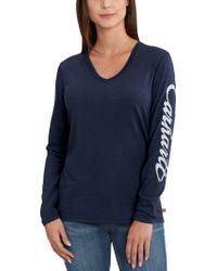 Carhartt - Wellton Graphic V-neck Long Sleeve Shirt - Lyst