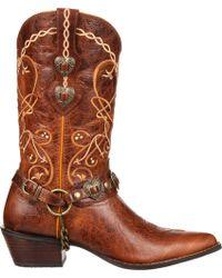 Durango - Crush Heartbreaker Concho Western Boots - Lyst