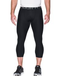 45303fd3e9cb61 Under Armour Heatgear Armour Graphic 3/4 Length Tights in Green for Men -  Lyst