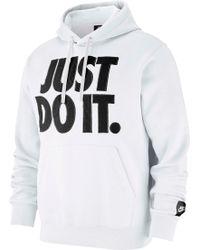 d5d7b314 Nike - Sportswear Just Do It Fleece Pullover Hoodie - Lyst